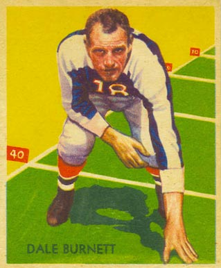 1935 National Chicle Dale Burnett #25 Football Card