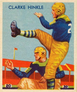 1935 National Chicle Clarke Hinkle #24 Football Card