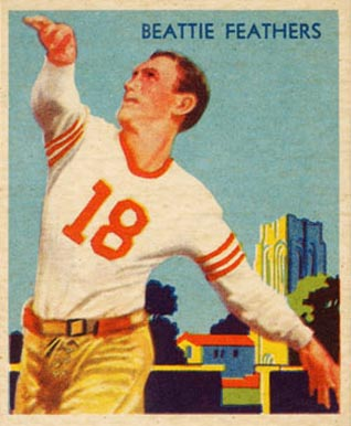 1935 National Chicle Beattie Feathers #23 Football Card