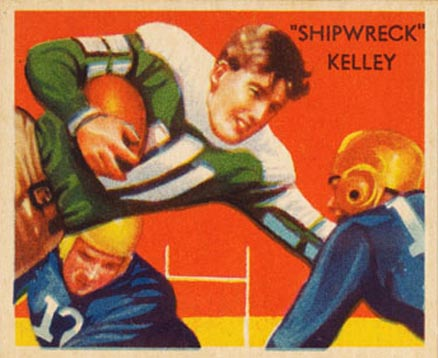 1935 National Chicle Shipwreck Kelley #22 Football Card