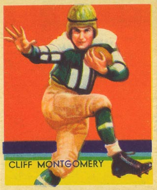 1935 National Chicle Cliff Montgomery #21 Football Card