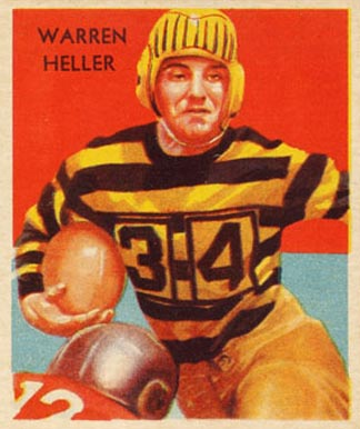 1935 National Chicle Warren Heller #20 Football Card