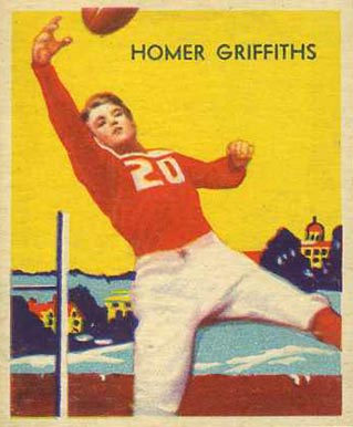 1935 National Chicle Homer Griffiths #13 Football Card