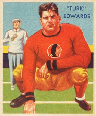 1935 National Chicle Turk Edwards #11 Football Card