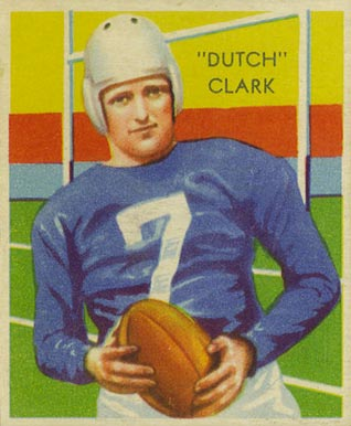 1935 National Chicle Dutch Clark #1 Football Card