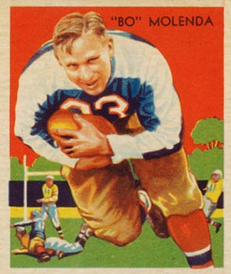1935 National Chicle Bo Molenda #2 Football Card