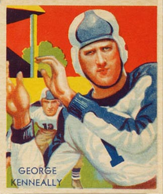1935 National Chicle George Kenneally #3 Football Card