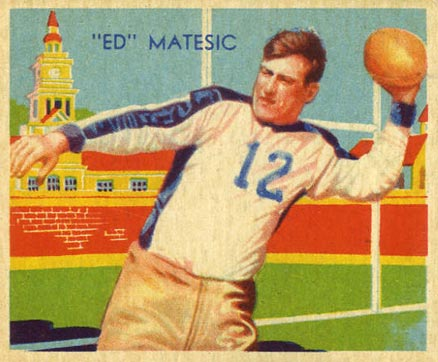 1935 National Chicle Ed Matesic #4 Football Card
