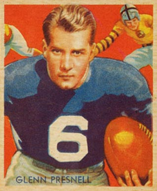 1935 National Chicle Glenn Presnell #5 Football Card