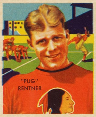 1935 National Chicle Pug Rentner #6 Football Card