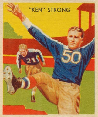 1935 National Chicle Ken Strong #7 Football Card