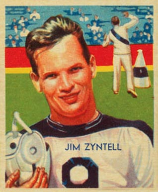 1935 National Chicle Jim Zyntell #8 Football Card