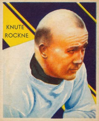 1935 National Chicle Knute Rockne #9 Football Card