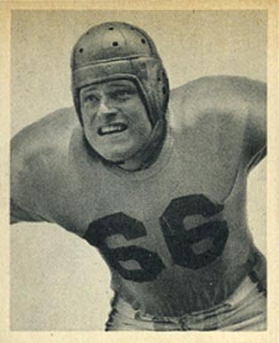 1948 Bowman Gil Bouley #15 Football Card
