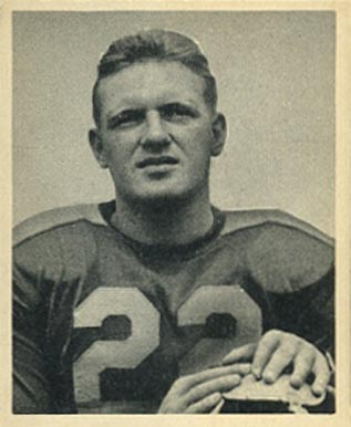 1948 Bowman Boley Dancewicz #74 Football Card