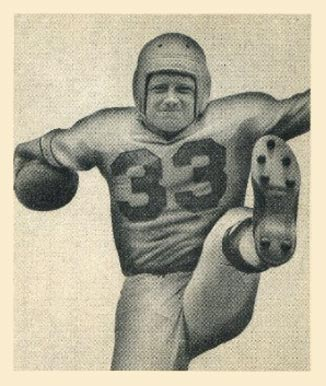 1948 Bowman Herbert Banta #89 Football Card