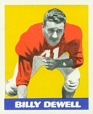 1948 Leaf Billy Dewell #39 Football Card