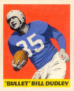 1948 Leaf Bill Dudley #36 Football Card