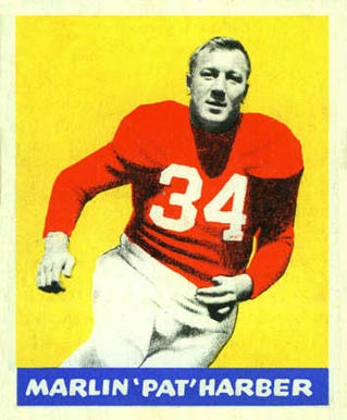 1948 Leaf Pat Harder #33 Football Card