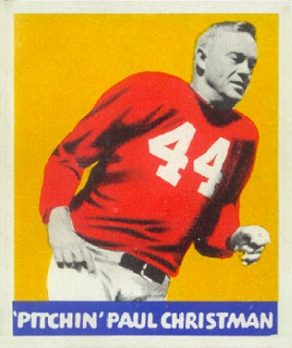 1948 Leaf Paul Christman #21 Football Card