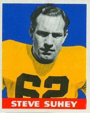 1948 Leaf Steve Suhey #2 Football Card