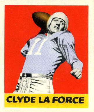 1948 Leaf Clyde Leforce #68-red Football Card