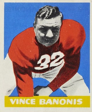 1948 Leaf Vince Banonis #8-WNOF Football Card