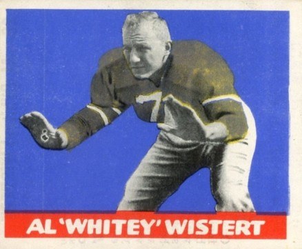 1948 Leaf Al Wistert #28grn Football Card