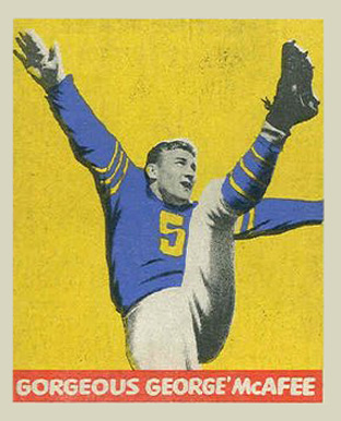 1948 Leaf George McAfee #19-NIC Football Card