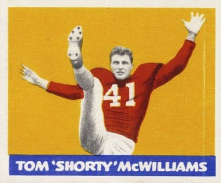 1948 Leaf Tom McWilliams #31-red Football Card