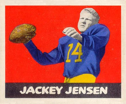 1948 Leaf Jackie Jensen #73-red Football Card