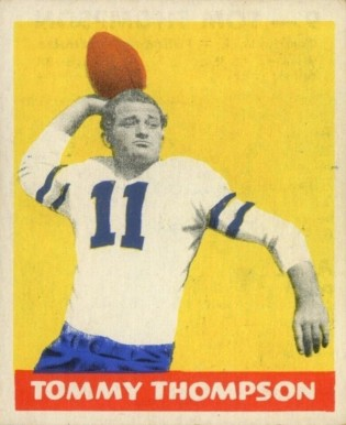 1948 Leaf Tommy Thompson #9-blue Football Card