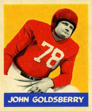 1948 Leaf John Goldsberry #94 Football Card