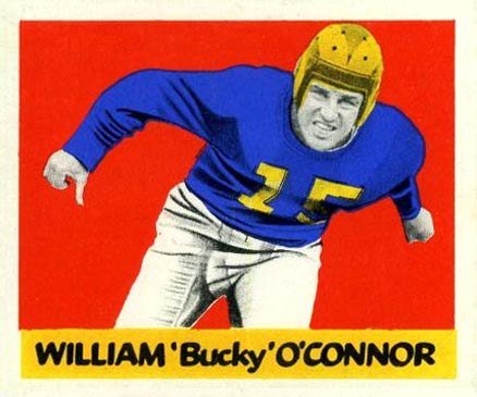 1948 Leaf Bucky O'Conner #89 Football Card