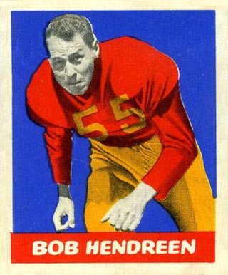 1948 Leaf Bob Hendreen #65 Football Card