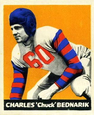 1948 Leaf Chuck Bednarik #54-org Football Card