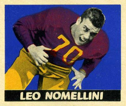 1948 Leaf Leo Nomellini #52-bl bck, Mar Football Card