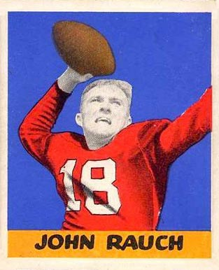 1948 Leaf John Rauch #50 Football Card