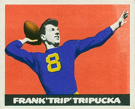 1948 Leaf Frank Tripucka #49 Football Card