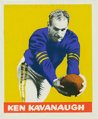 1948 Leaf Ken Kavanaugh #23-yel Football Card