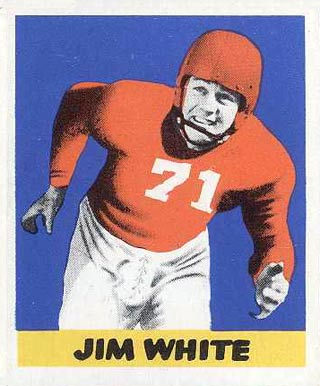 1948 Leaf Jim White #45 Football Card