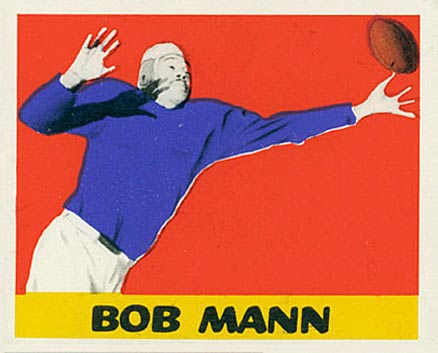 1948 Leaf Bob Mann #44 Football Card