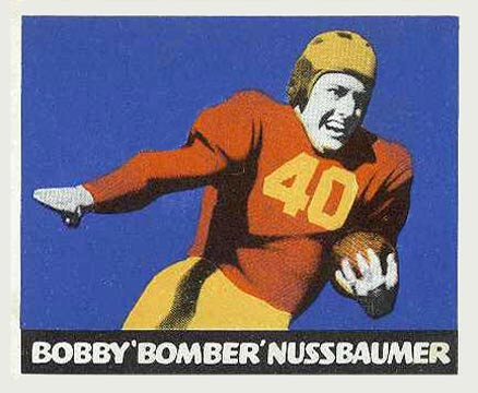 1948 Leaf Bobby Nussbaumer #43-Red Football Card
