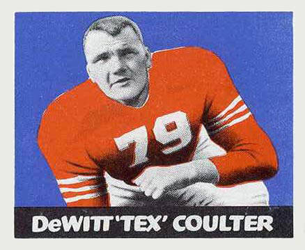 1948 Leaf Tex Coulter #42 Football Card