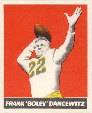 1948 Leaf Frank Dancewicz #38 Football Card