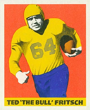 1948 Leaf Ted Fritsch #35 Football Card