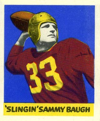 1948 Leaf Sammy Baugh #34 Football Card
