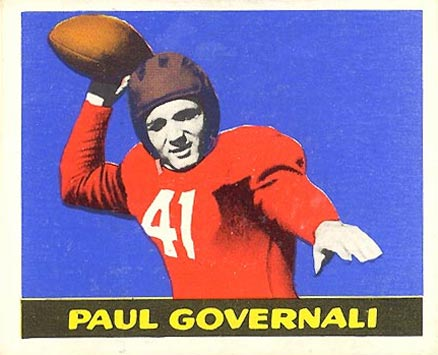 1948 Leaf Paul  Governali #30 Football Card