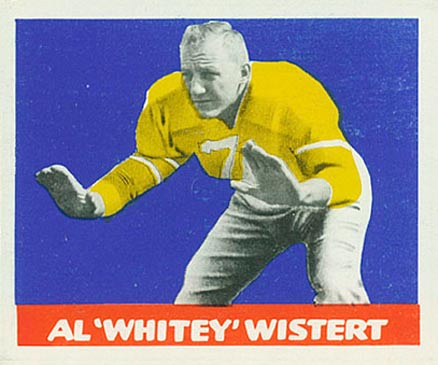 1948 Leaf Whitey Wistert #28yel Football Card