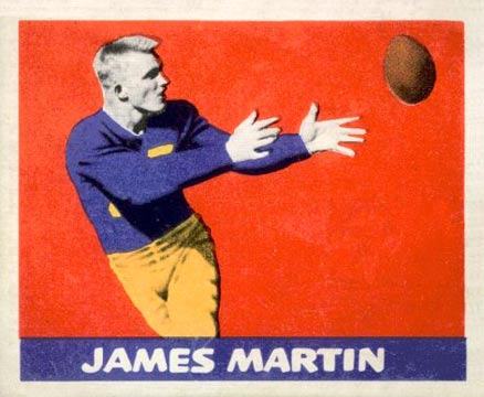 1948 Leaf Jim Martin #24-red Football Card